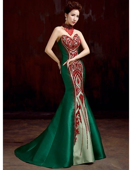 Elegant dresses Trumpet/Mermaid Chapel train Satin Sweetheart Occasion dress