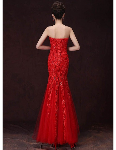 Elegant dresses Trumpet/Mermaid Floor length Paillette Sweetheart Occasion dress