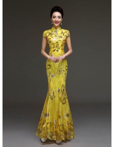Elegant dresses Trumpet/Mermaid Floor length Lace High round/Slash neck Occasion dress