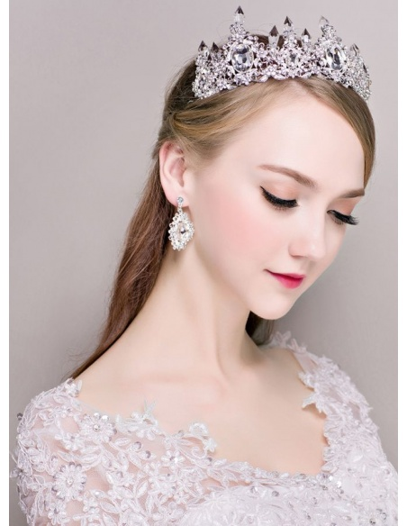 Alloy Wedding jewelry Including Earrings And Tiara