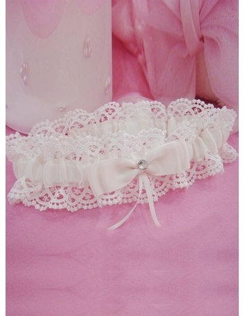 Picture color Satin Lace Wedding garter