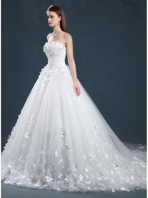 abiti da sposa con fiori