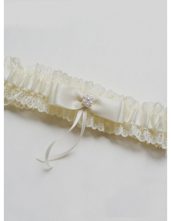 Picture color Satin Lace Bow Wedding garter