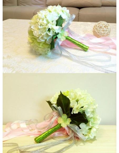 Bouquet Sposa artificiale verde e bianco