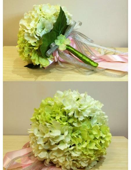 Bouquet Sposa Bianco E Verde.Bouquet Sposa Artificiale Verde E Bianco