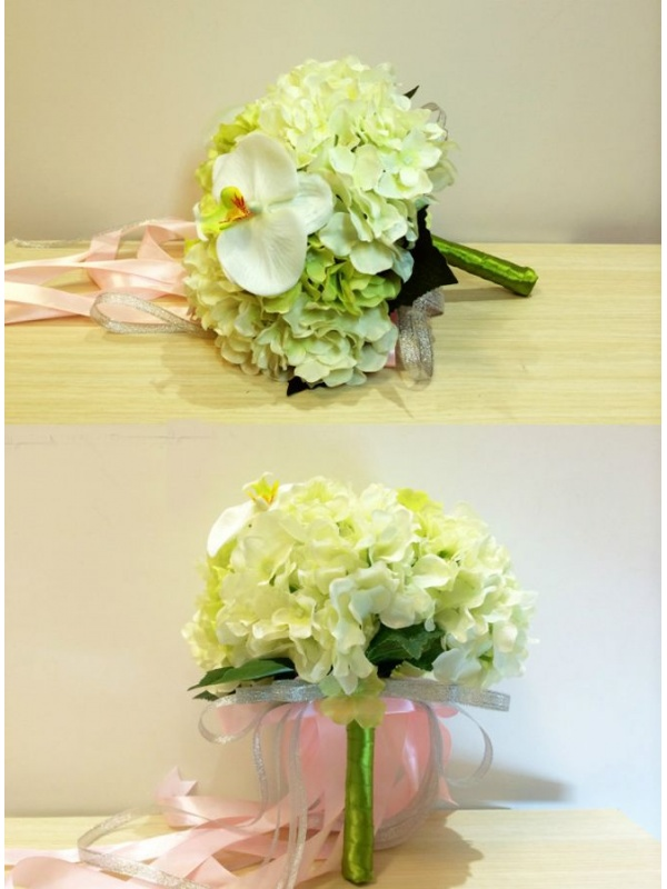 Bouquet Sposa Orchidee.Bouquet Sposa Finto Con Orchidee