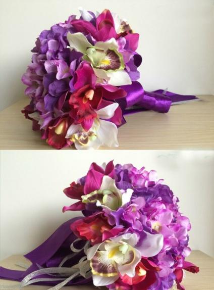 Bouquet Sposa Lilla.Bouquet Sposa Online Con Fiori Lilla E Viola