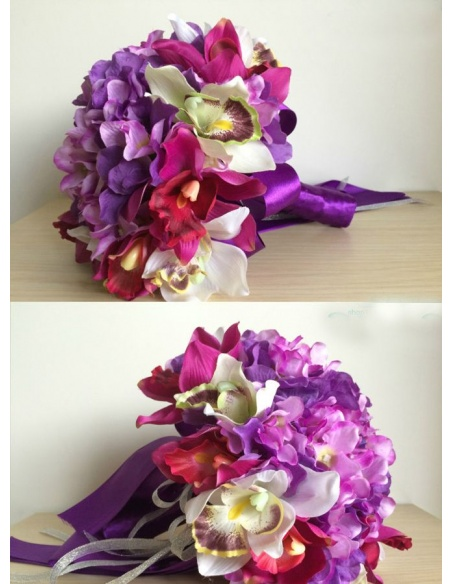 Bouquet Sposa online con fiori lilla e viola