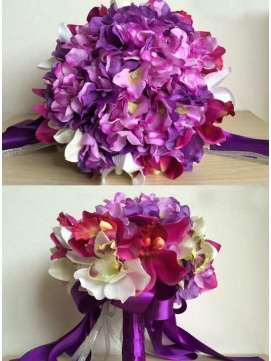 Bouquet Sposa Viola.Bouquet Sposa Online Con Fiori Lilla E Viola