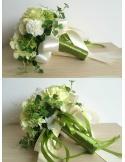 Bouquet Sposa verde e bianco finto online