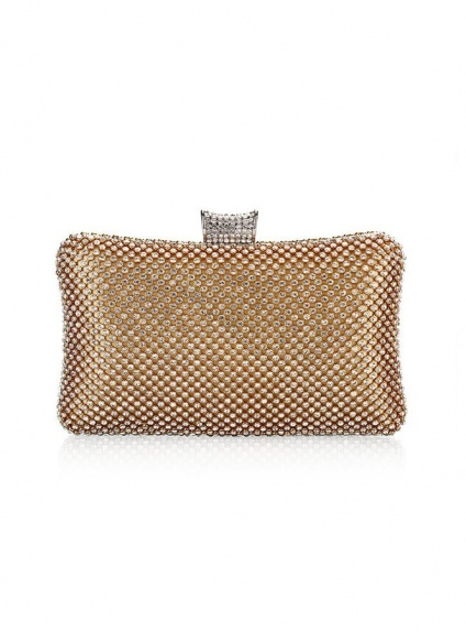 Gold Rhinestone Wedding Handbags