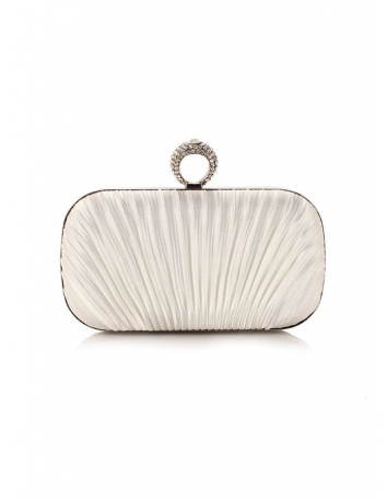 Ivory Polyester Wedding Handbags