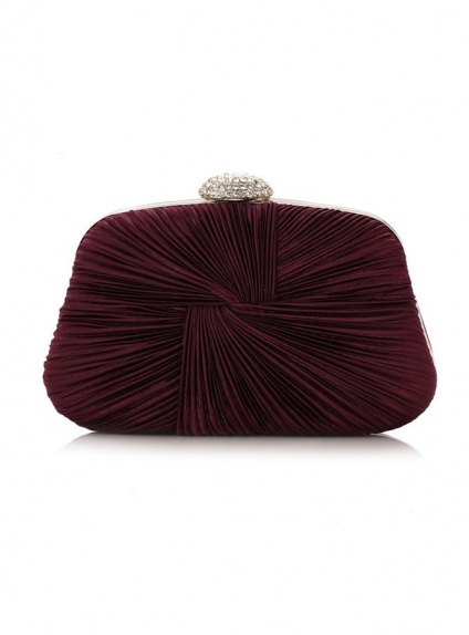 Burgundy Polyester Wedding Handbags