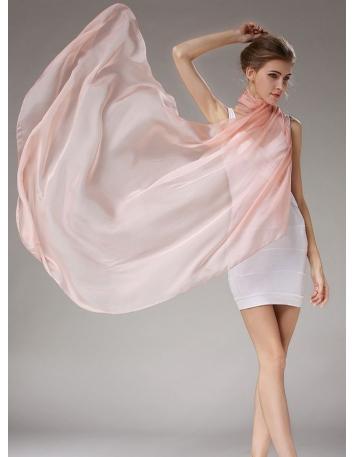 Stola rosa antico chiaro in pura seta naturale