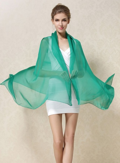 miglior sito web af867 bfd93 Stola 100% seta verde smeraldo bottiglia scuro