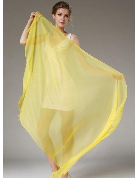 comprare on line 29dc9 56770 Stola in seta giallo canarino limone ambra