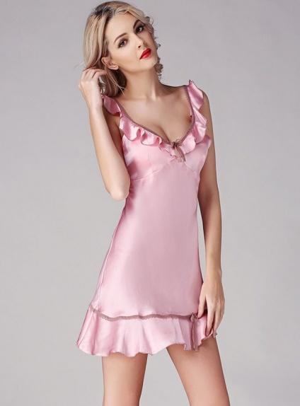 più recente ae873 1f7ea Vestaglia Rosa da Sposa in seta naturale 100% Elegante