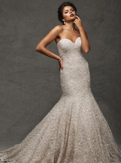 Sweetheart Mermaid Chapel train Lace Wedding dress