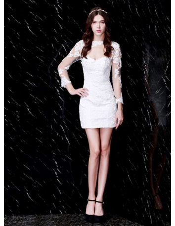 cef9ad311 Party dresses Graduation dresses Sheath Short/Mini Tulle Lace Asymmetrical  Occasion dress ...