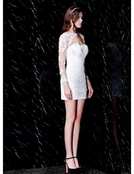 Party dresses Graduation dresses Sheath Short/Mini Tulle Lace Asymmetrical Occasion dress