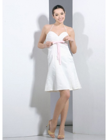 267dc2a4b9 Party dresses Graduation dresses A-line Short Mini Satin Chiffon Halter Occasion  dress ...