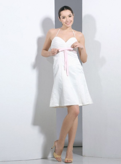 Party dresses Graduation dresses A-line Short/Mini Satin Chiffon Halter Occasion dress