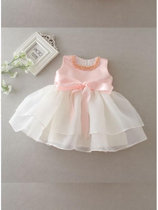 45f69fee945c Prenatal Abiti Battesimo Bambina » Vestito da battesimo semplice con ...