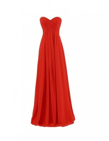 Vestito da damigella rosso economico online