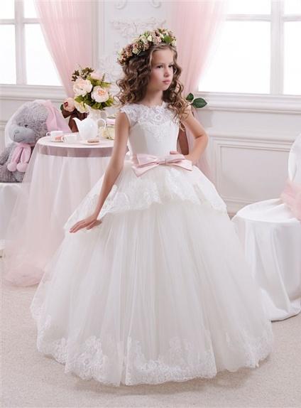 Elegante Principesca Con Abito Da Comunione Gonna nw08OPk