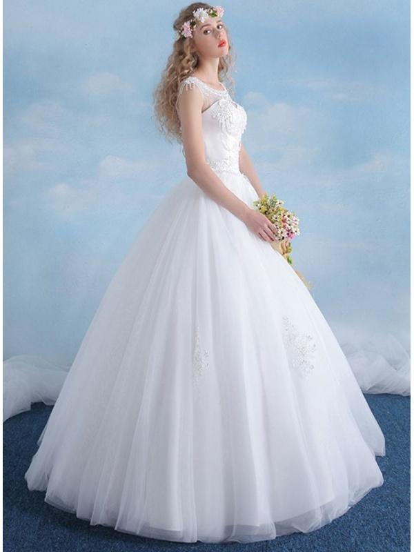 robe de mari e coupe trap ze jupe ample en tulle brod
