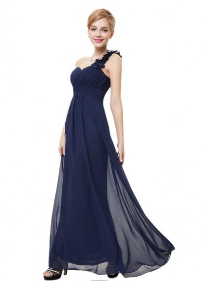enorme sconto 05a83 24553 Vestito lungo blu per Damigelle