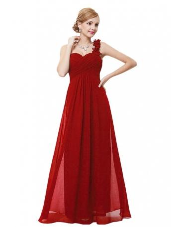 Vestito lungo rosso di chiffon per Damigelle