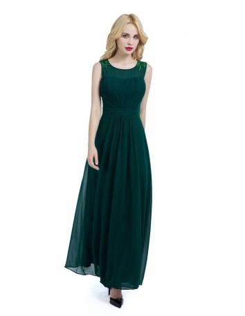 Vestito per damigella online economico verde bottiglia