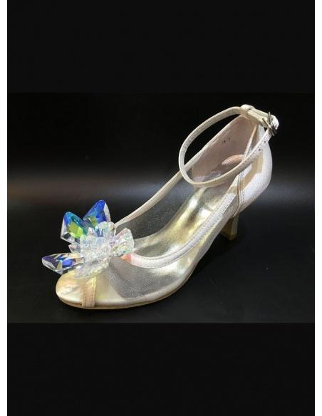 Scarpe da Sposa gioiello con tacco basso
