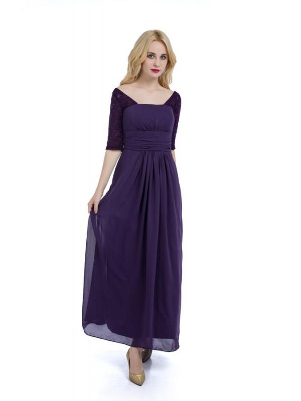 Vestito pizzo viola