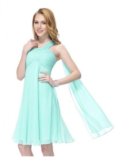 Vestiti Cerimonia Color Tiffany.Abito Da Cerimonia Corto Tiffany Per Damigelle Matrimonio