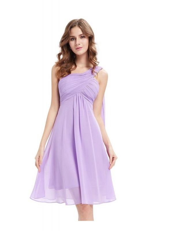 uk availability 301ad 1e69c Vestito da cerimonia corto damigelle matrimonio lilla