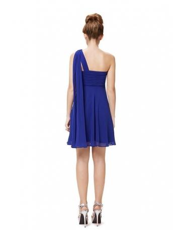 bc7c24a07c6e ... Vestito da Cerimonia corto economico online per damigelle blu elettrico  2
