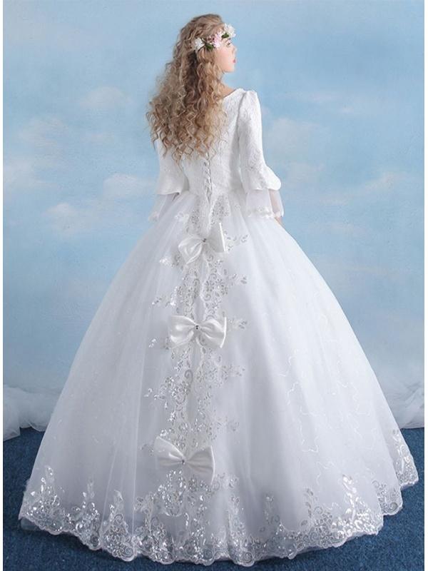 Vestiti Da Sposa Anni 80.Abito Da Sposa Vintage Anni 80 Con Maniche A Pipistrello