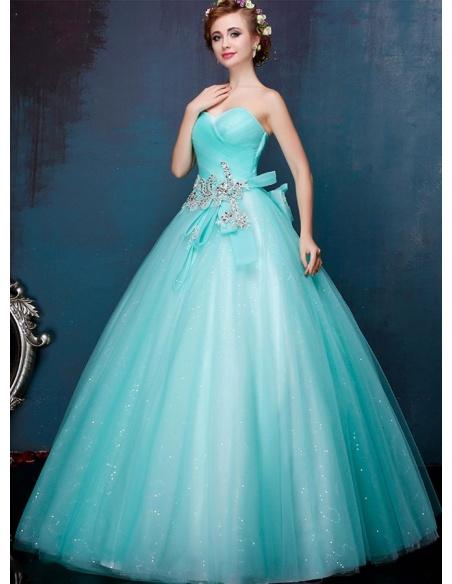 sito autorizzato 100% di alta qualità sono diversamente Abito da Sposa azzurro colorato principesco con gonna glitterata ...