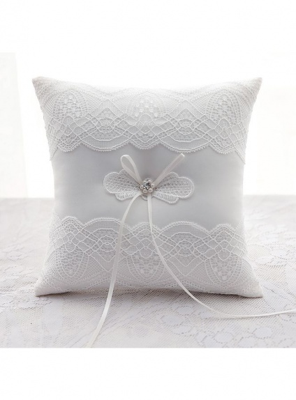Picture color Satin Lace Wedding Ring Pillow