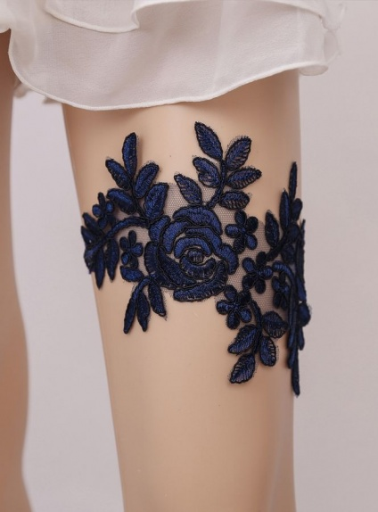 Picture color Lace Wedding garter