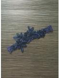 Giarrettiera blu con Pizzo sottile