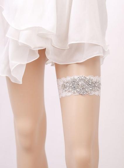 Giarrettiera Sposa con decorazione di strass