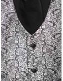 Abito da Sposo semi lucido con finiture damascate e cravattone disponibile in nero o in blu