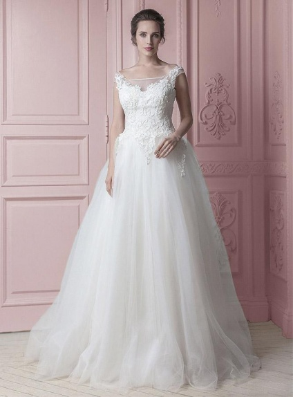 save off 265d6 81093 Abito da Sposa classico con corpetto in pizzo e gonna in tulle