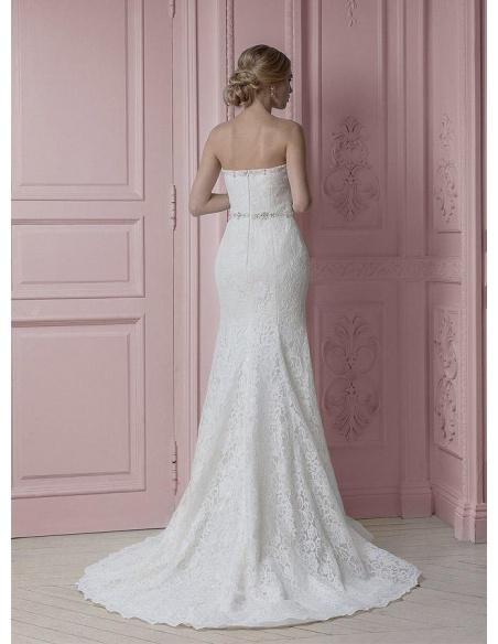 Vestito da Sposa 2019 a sirena di pizzo con scollo a cuore