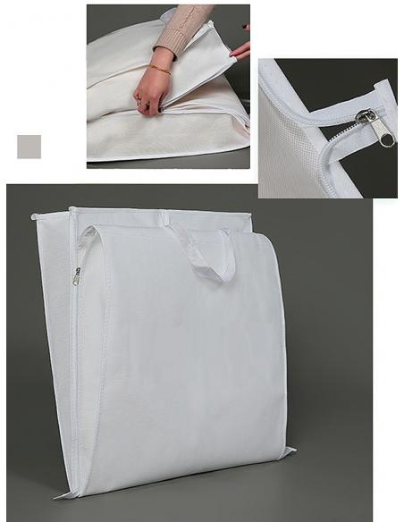 Copriabito custodia per abiti da sposa e cerimonia che si chiude a borsa