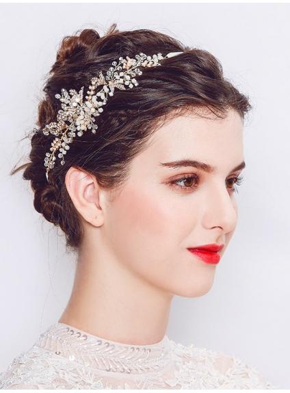 pas cher fournisseur officiel bonne vente de chaussures Fascia gioiello per capelli sposa disponibile in argento o oro