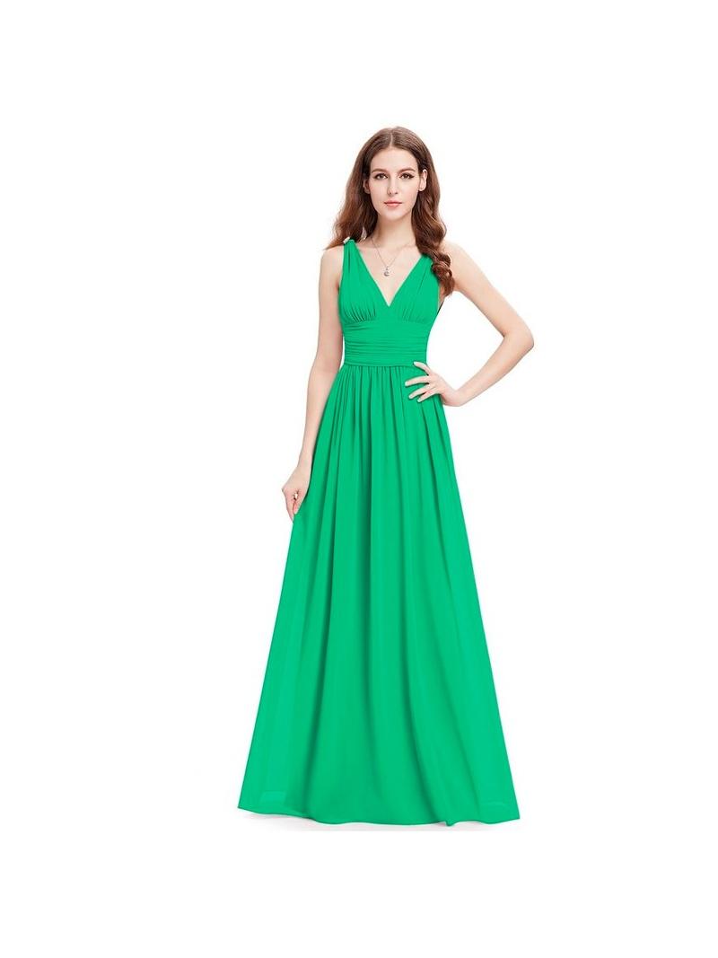 Abiti Verdi Da Cerimonia.Abito Da Cerimonia Semplice Ed Economico Verde Smeraldo Per